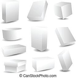 Blanke Verpackungsschachteln
