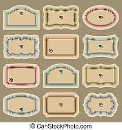 Blanke Vintage-Labelsets (Vektor)