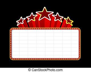 Blanker Film, Theater oder Casino-Marke
