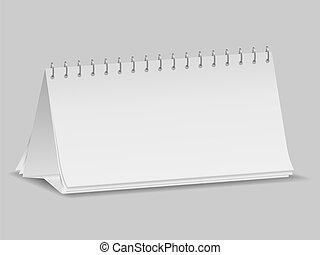 Blanker Schreibtischkalender