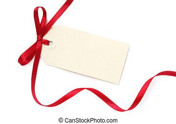 Blankes Geschenk mit Bogen