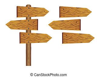 Blankes Holzzeichen
