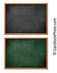 Blankes schwarzes Brett mit Holzrahmen