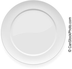 Blankes weißes Essen