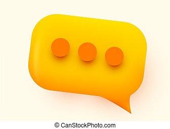 blase, concept., gelber , vortrag halten , glänzend, kommunikation, illustration., sozial, vernetzung