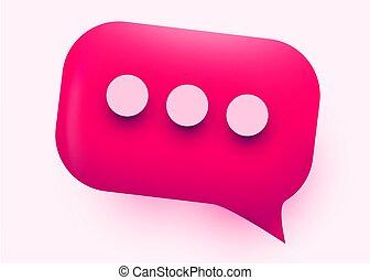 blase, concept., rosa, vortrag halten , glänzend, kommunikation, illustration., sozial, vernetzung