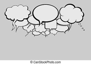 Blasen für soziale Netzwerke