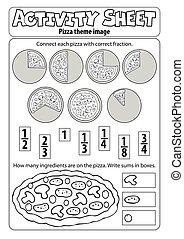blatt, pizza, aktivität, thema, 1