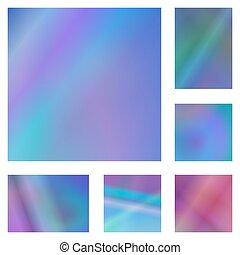 Blau und lila abstrakte Hintergrundsets.