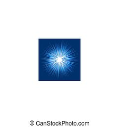 Blaue, abstrakte Explosionsgrafik Hintergrund.