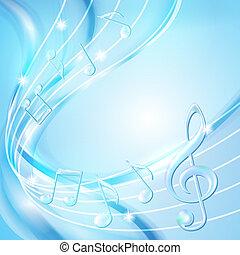 Blaue Abstraktion macht Musik Hintergrund.