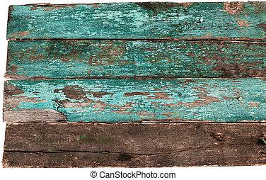 Blaue alte Holzsprünge