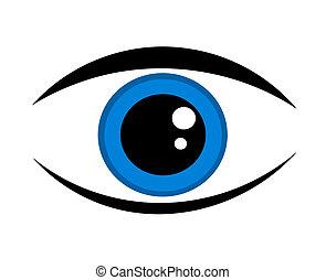 Blaue Augen-Ikone