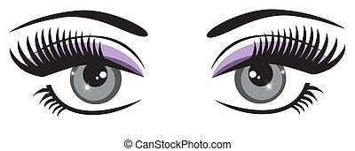 Blaue Augen.