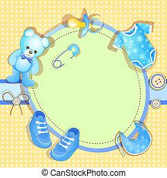 Blaue Babyparty-Karte