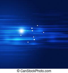 Blaue Bewegungstechnik abstrakter Hintergrund