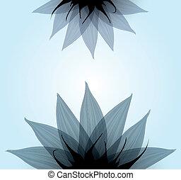 Blaue Blume entfernen. Vector