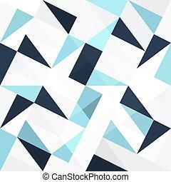 Blaue Dreiecke, abstrakter Hintergrund.