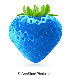 Blaue Erdbeere.