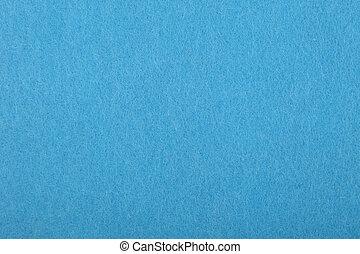 Blaue Filzstruktur schließt sich.
