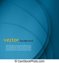 Blaue, glatte Drehlichtlinien Vektorhintergrund.