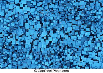 Blaue Kisten Hintergrund