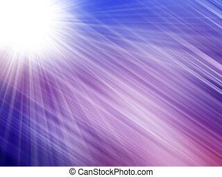 Blaue Lichtstrahlen