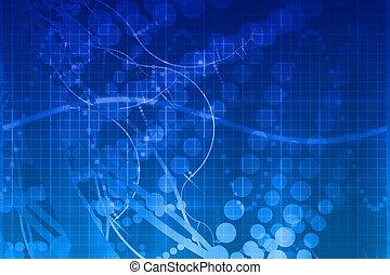 Blaue medizinische Wissenschaft futuristische Technologie abstrakt