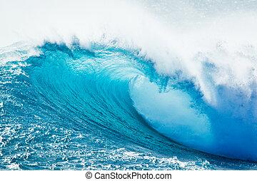 Blaue Meereswelle