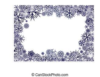 Blaue Schneeflocken im Hintergrund
