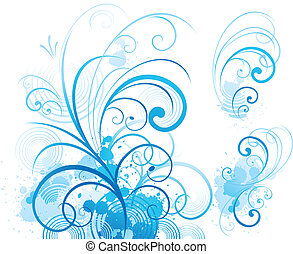Blaue Schriftrolle