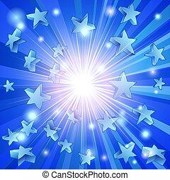 Blaue Sterne.