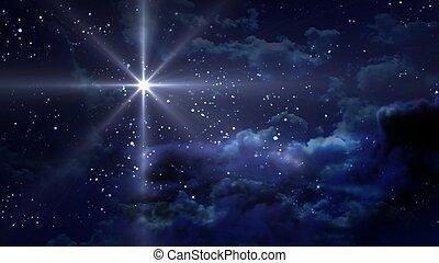 Blaue Sternennacht