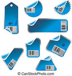 Blaue Sticker