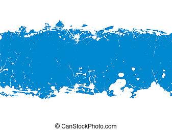 Blaue Tintenfleck-Banner