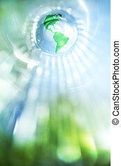 Blaue und grüne Erde Hintergrund