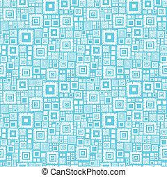 Blaue und weiße geometrische Quadrate, nahtloser Hintergrund