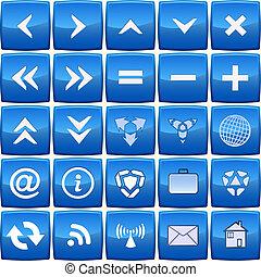 Blaue Vektor-Ikone deaktivieren
