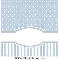 Blaue Vektorkarte oder Einladung