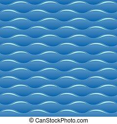 Blaue Wasserwellen nahtlos Vektor Textur oder Muster.