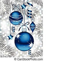 Blaue Weihnachtsfiguren