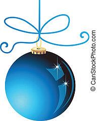Blaue Weihnachtskugelvektor-Aktien
