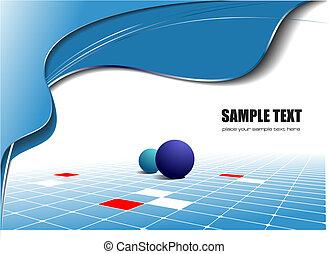 Blaue Wellen-Hintergrund deaktivieren. Vektor Illustration