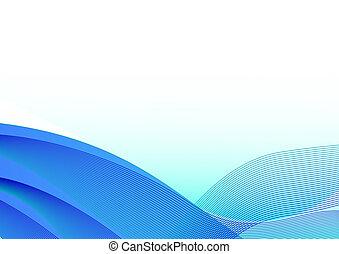 Blaue Wellen im Hintergrund