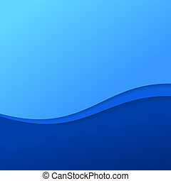 Blaue Wellen mit Streifen abbrechen