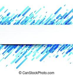 Blauer, abstrakter Hintergrund auf weiß.
