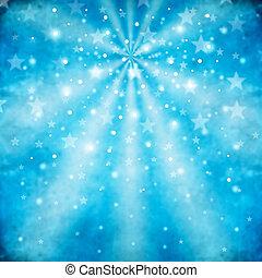 Blauer abstrakter Hintergrund mit Sternen