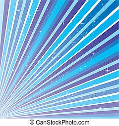Blauer abstrakter Hintergrund mit Streifen und Sternen, Vektor Illustration Eps 10.0