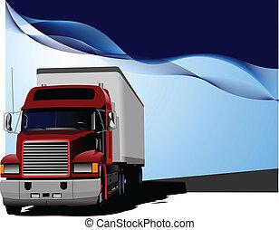Blauer abstrakter Hintergrund mit Truc