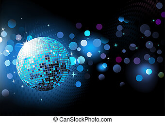 Blauer abstrakter Party-Hintengrund